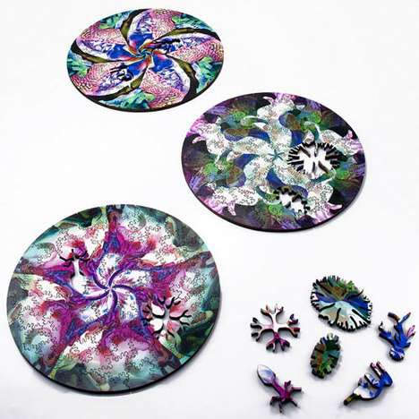 Petri Dish-Inspired Jigsaws - The Radial Puzzle is Inspired by Organic Crystal Growth Patterns
