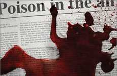 Bloody Newspaper Campaigns - The Canadian Journalists for Free Expression Promote Free Speech