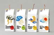 Weather Forecast Food Packaging - Kiyu Taro Labels Their Flavors Based on Atmospheric Conditions