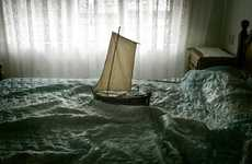 Sheet-Sailing Ship Photography - Luis Gonzalez Palma's Ara Solis Series is Simple and Imaginative