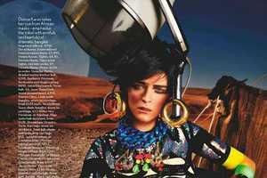 The Vogue UK 'High Plains Drifter' Editorial is Eccentri