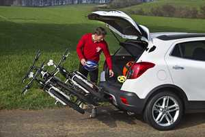 The Opel Mokka All Terrain Vehicle is Equipped with a Cycle Rack