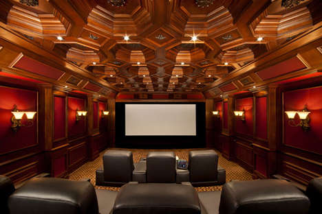 Californian Man Home Theater Garage