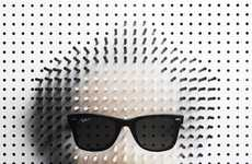 Pop Icon Pintraits - The Pin Art Portraits by Philip Karlberg are Full of Personality