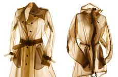 X-Ray-Like Rainwear - Terra New York Outerwear is Semi-Transparent and Smokey-Hued