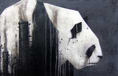 Industrial Panda Paintings