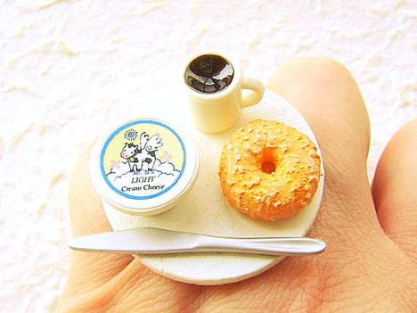 Handmade Food-Decorated Jewelry - Etsy User 'SouZouCreations' Makes Appetizing Rings