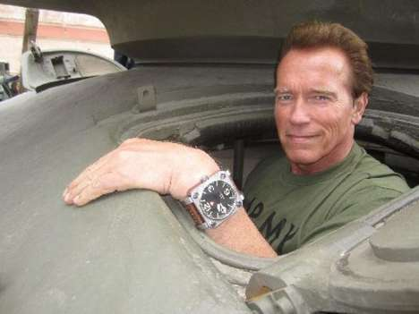 schwarzenegger military tank watch