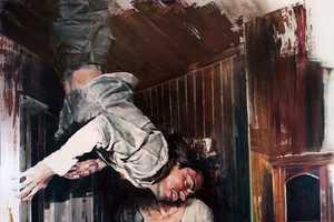 Dan Voinea Paintings Distort Human Interactions