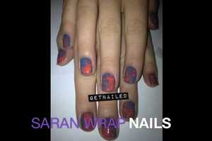 The 'Get Nailed' Saran Wrap Nails Tutorial is Stylishly Simple