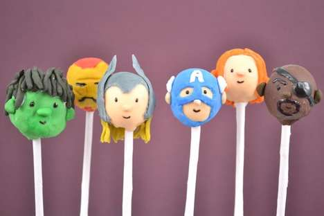 avengers cake pops