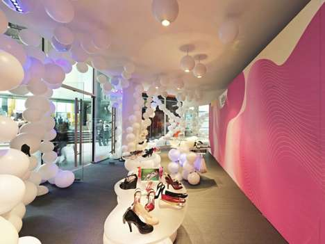 Bubble-Filled Boutiques - The Melbourne Melissa Shoe Store is Quirky and Imaginative