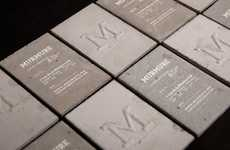 Literally Solid Credentials - French Creative Agency Murmure Debuts Concrete Business Cards