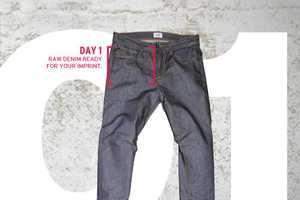 The Hudson Jeans Turbotech Denim Create a Distinctively Distressed Look