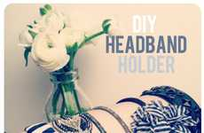 DIY Accessory Holders - The Beauty Department Blog Shows How to Organize Headbands