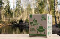 The Cleverly Designed Grillcube Makes Charcoal Grilling Green
