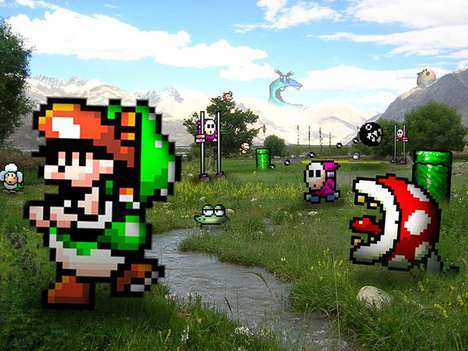 Videogame Reality Art - Lee Vidal Puts Classic 8-Bit Characters Into Real-Life Scenes
