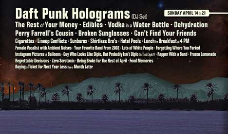 The Fake Coachella Line-Up Poster is Full of Mockery