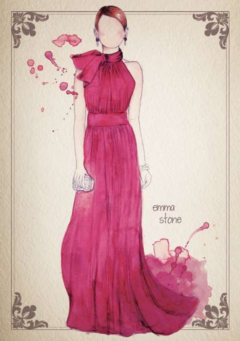 camilla gray watercolor oscar