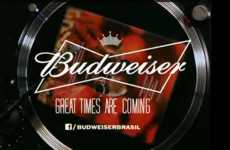 Musical Magazine Campaigns - The Budweiser Vinyl Ad Features Will.I.Am