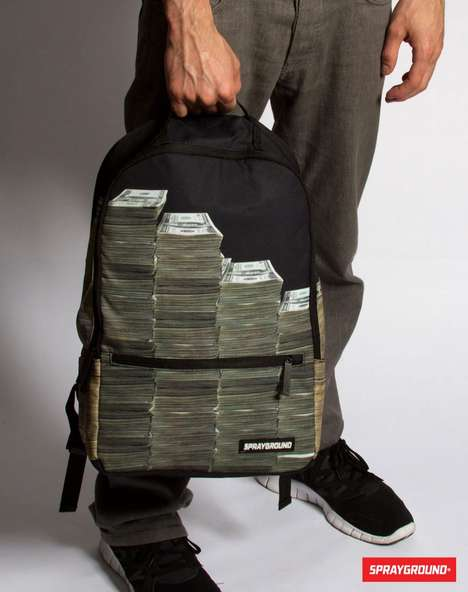 Bill-Boasting Backpacks - The 'Money Stacks' Backpack Flaunts Your Wealth