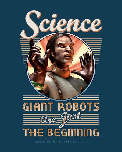 retro science posters