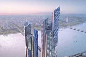 'Dancing Dragons' is a Gigantic Transparent Building