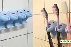 The Whale Family Toothbrush Holders are Endearing