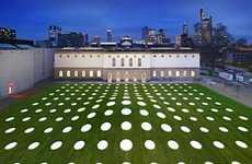 Illuminated Polka-Dot Courtyards