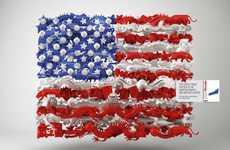 Montaged Flag Ads