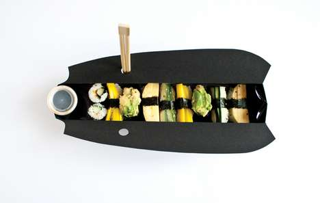 Sleek Sushi Carries - Gerlinde Gruber Creates an Eco-Friendly Sushi Takeaway Box