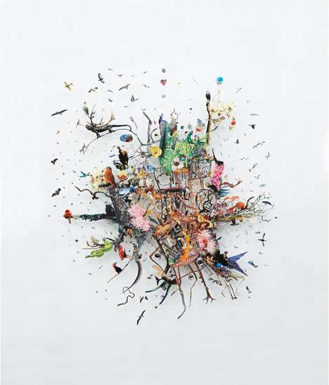 Unrelated Collage Art - Peter Madden Encourages Viewers to Form Relationships Between the Unusual