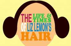 Celebrity Coif Infographics - The Life and Times of Liz Lemon's Hair is Revealing