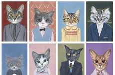 Humanized Feline Illustrations