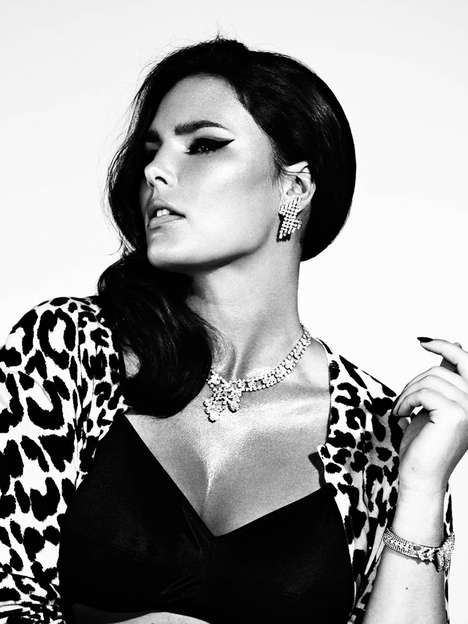 Retro Full-Figured Editorials - The S Moda May 19 2012 Photoshoot Stars a Sultry Candice Huffine