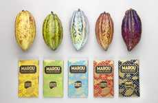 Gilded Artisan Chocolate Packaging - Marou Creates Bean-to-Bar Products Wrapped in Handmade Paper