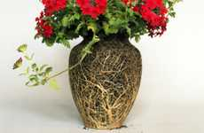Vaseless Root Arrangements - Nurture Studies Features Soil Sculpted by Voluptuous Vases