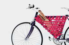 Woven Cycle Accessories - Reel Bicycle Storage Makes Clever Use of Overlooked Areas of Bike Frames