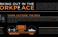 Corporate Fitness Graphs - The Working Out in the Workplace Infographic Helps Readers Multitask