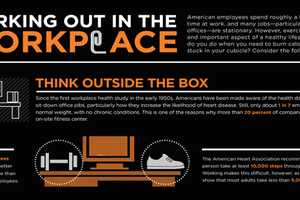 The Working Out in the Workplace Infographic Helps Readers Multitask
