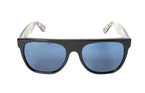 super flat top havana sunglasses
