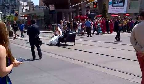 yonge and dundas wedding pictures