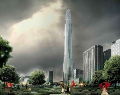 Super-Tall Spaceship Structures - The CTF Tianjin Tower by Skidmore, Owings and Merrill is Huge