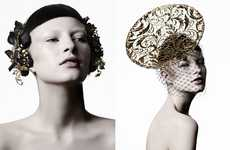 Futuristic Millinery Fashion - The Suzy O'Rourke Fall 2012 Couture Collection is Sculpturally