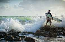 Misty Ocean Activity Captures - The Pete Barrett Surfing Shoot is Fantastically Beautiful
