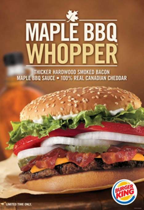 maple flavored fast food burger kings maple bbq whopper