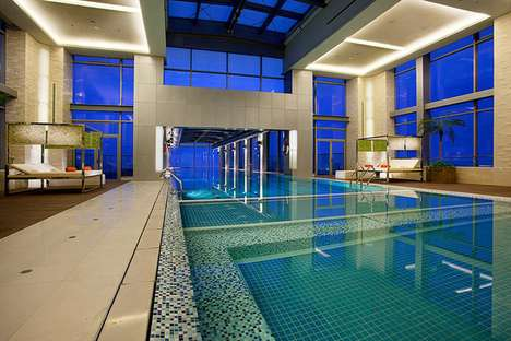 holiday inn shanghai glass bottom swimming pool
