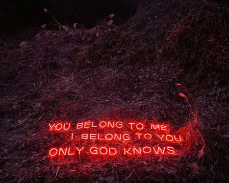 lee jungs lit text installations