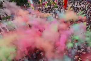 The 'Color Me Rad' 5K Run is a Lively Workout