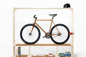 The 'Shoes Books and a Bike Stand' is a Simple Space Saver